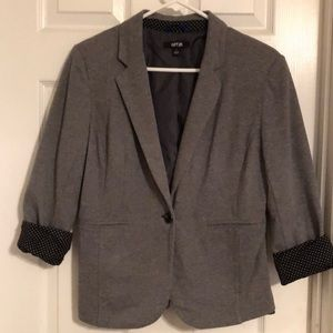 Gray cotton blazer